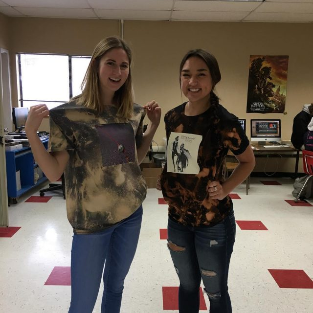 Web staffer Claire Keener and Lifestyles Editor McCalee Cain rockhellip