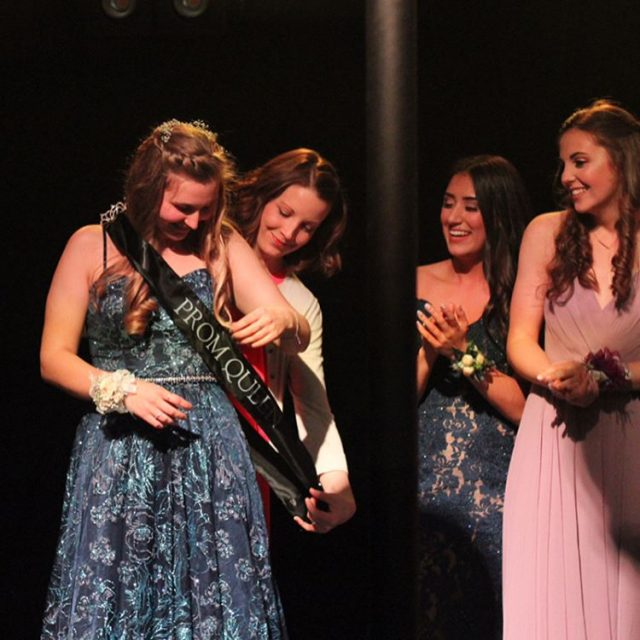 Seniors Holly Nelson and Ethan Fogg were crowned as Queenhellip