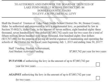 LPOSD LEVY APPROVED