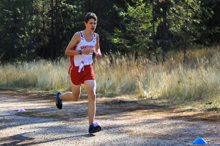 In the boys JV race, freshman Sloan Woodward earned 7th place and was the first Sandpoint runner to finish. He ran the 5k in 19:03.