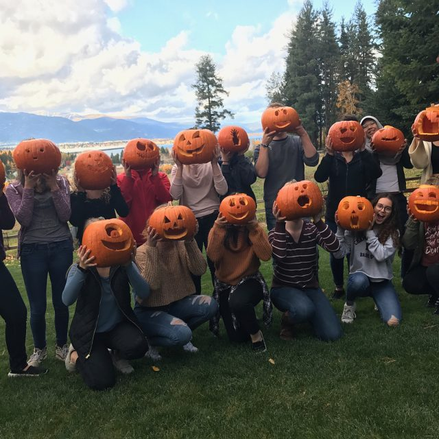 Jeralyn Mire hosted Interact Clubs annual pumpkin carving event thishellip