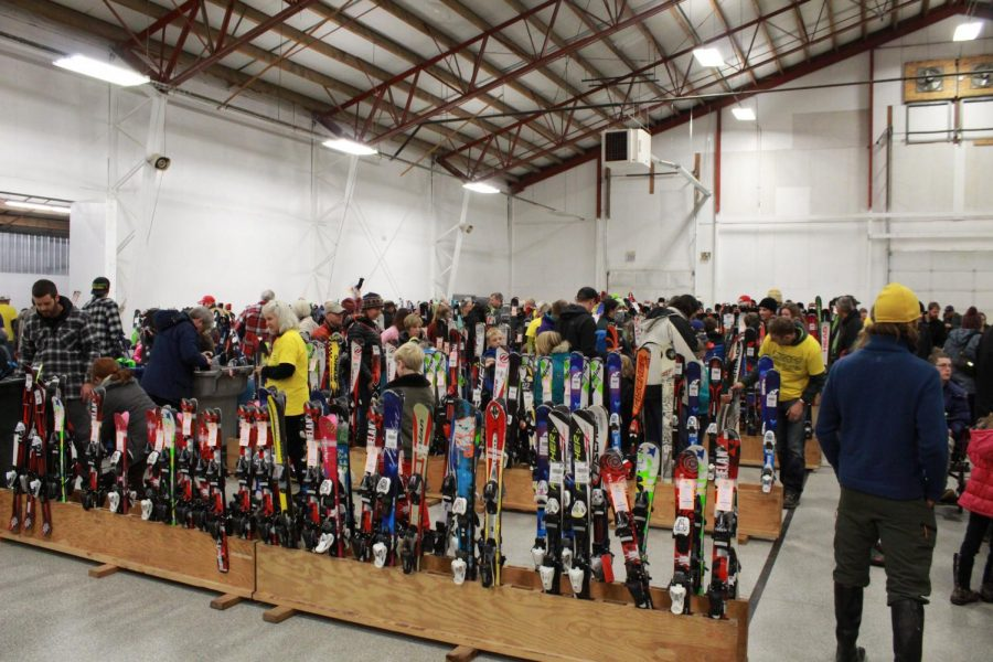 On Friday, truckloads of donations brought skis, poles and other gear.