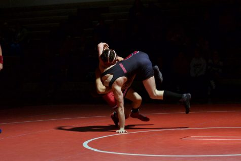 WRESTLING COMPETES IN RED AND WHITE NIGHT