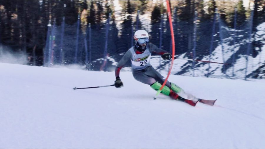 Addison McNamara skis a slalom race.