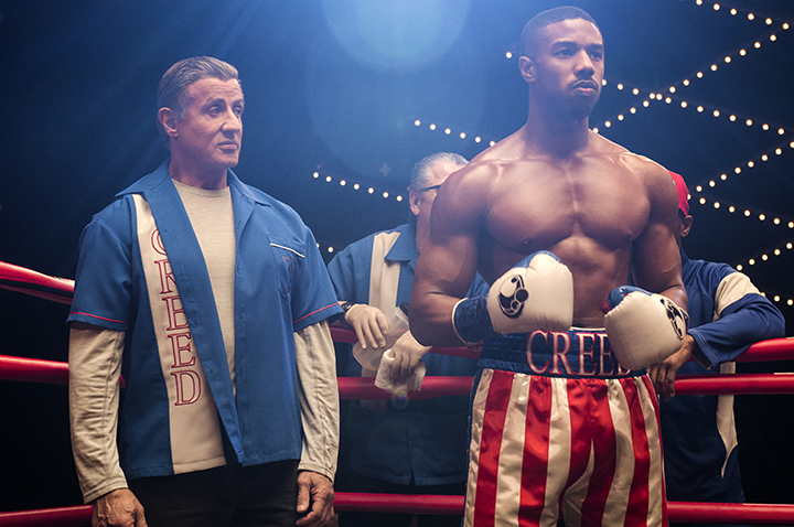 Sylvester Stallone stars as Rocky Balboa and Michael B. Jordan as Adonis Creed in CREED II, a Metro Goldwyn Mayer Pictures and Warner Bros. Pictures film.