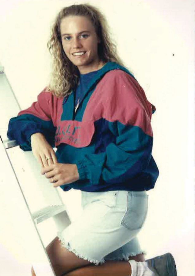 Teacher Lisa Barton poses for her senior photos in 1992.