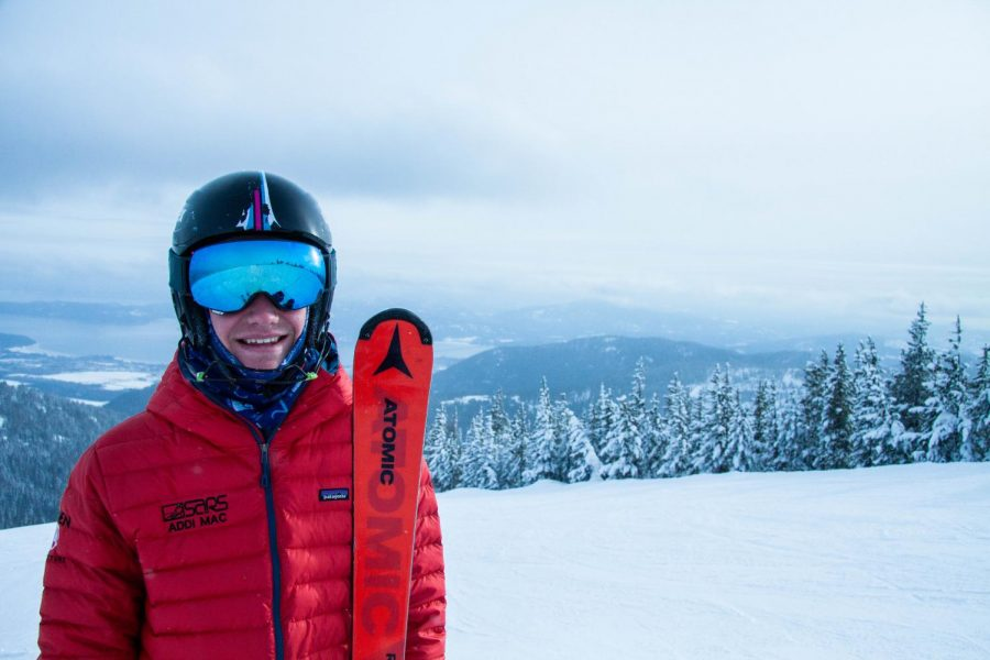 Addison+McNamara+has+dedicated+his+time+training+at+Schweitzer+Mountain+Resort+before+upcoming+ski+races.