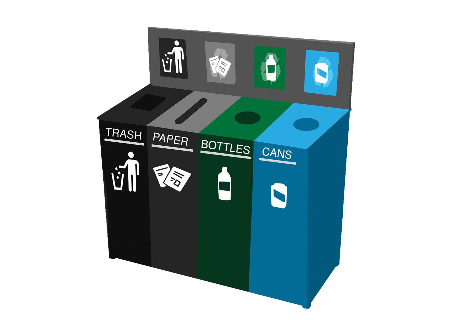Recycling can limit the amount of trash that goes to a landfill.