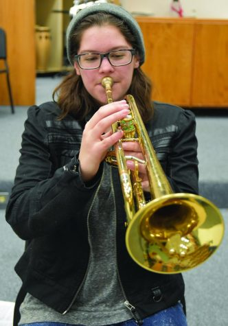 Bri Brosnahan is a senior who also participates in band.