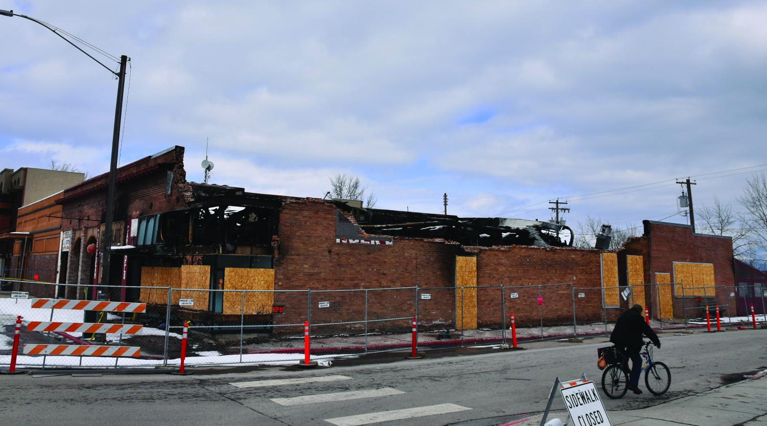 Access to all four of the businesses that suffered from the fire on February 12th are fenced off for safety reasons until the buildings can be torn down and rebuilt safely.