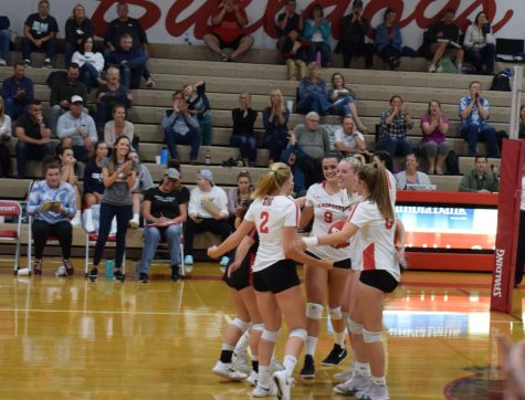 VOLLEYBALL DOWNED BY VIKINGS