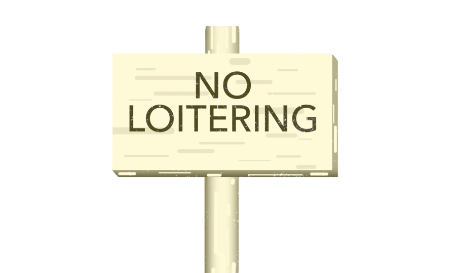 Loitering is no longer allowed during school hours.