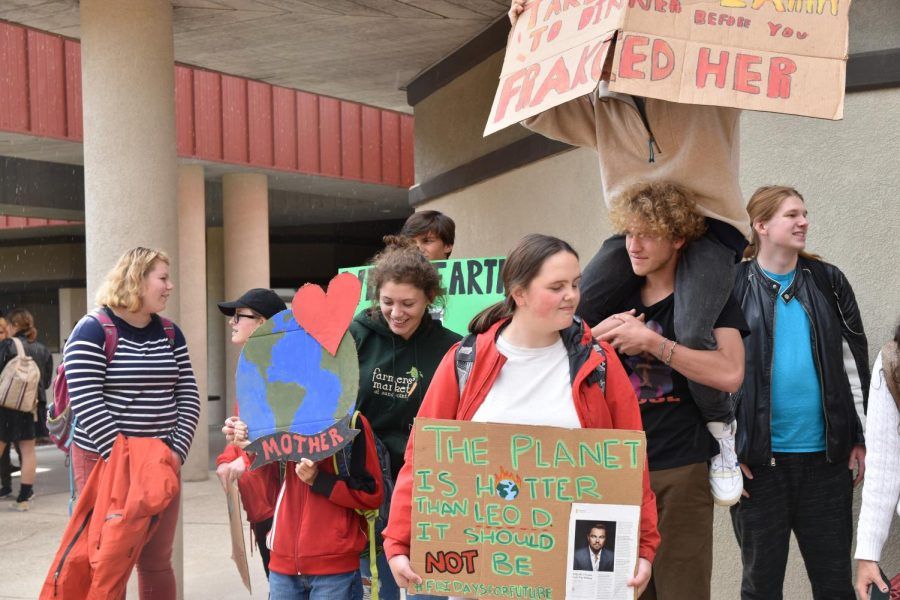 Students participate in last October's Global Climate Strike outside of Sandpoint High School. The Coronavirus pandemic has had an impact on the environment globally. Will the positive ecological effects seen in some parts of the world during the pandemic last?