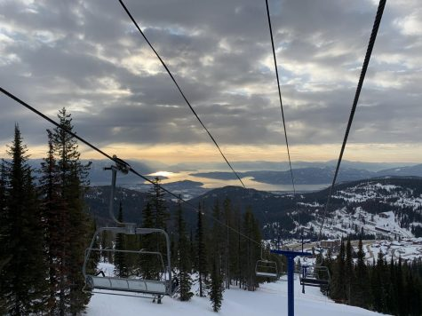 The wintery-view atop of Schweitzer Mountain won