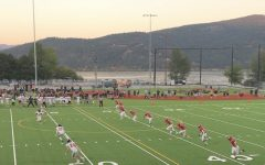 The Varsity Football team  kicks off against Postfalls, their first opponent of the season.