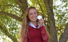 Camille Neuder holds the medal she received from winning Sandpoint's Distinguished Young Women program.
